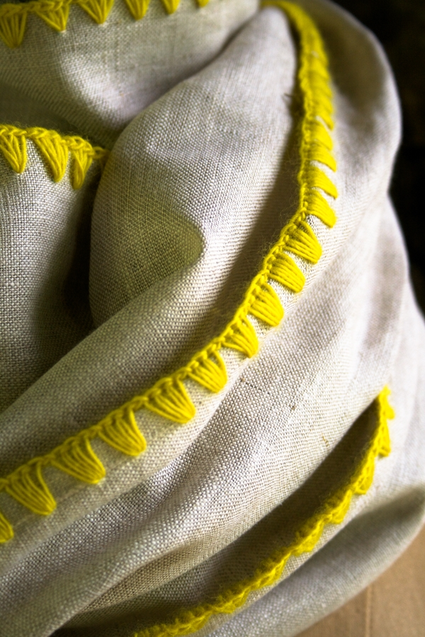 Edged Linen Wrap | Purl Soho