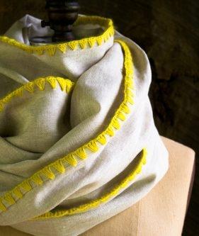 Edged Linen Wrap