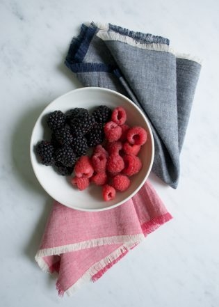 Fringed Chambray Napkins | Purl Soho