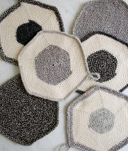 Crocheted Set-of-Three Pot Holders | Purl Soho