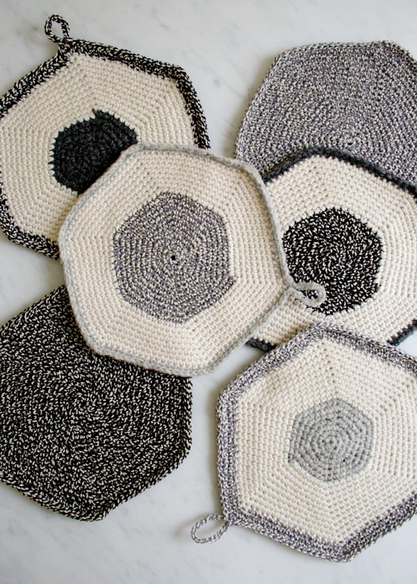 Crocheted Set-of-Three Pot Holders