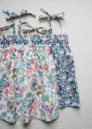 Kid's Gathered Summer Top | Purl Soho