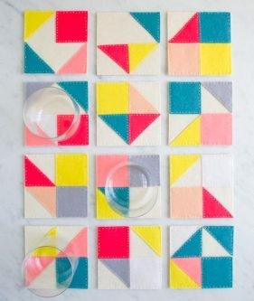 Modular Felt Coasters