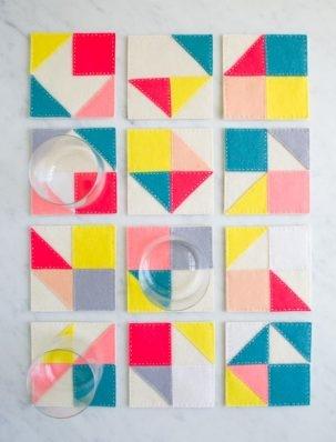 Modular Felt Coasters | Purl Soho