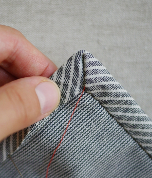 Sewing on Single Fold Binding | Purl Soho
