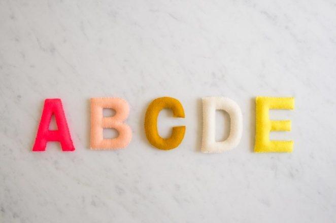 Hand Sewn Felt Alphabet | Purl Soho