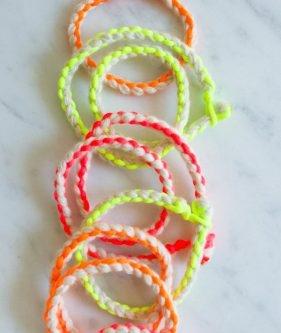 Cashmere + Neon Friendship Bracelets