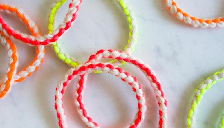 Cashmere + Neon Friendship Bracelets | Purl Soho
