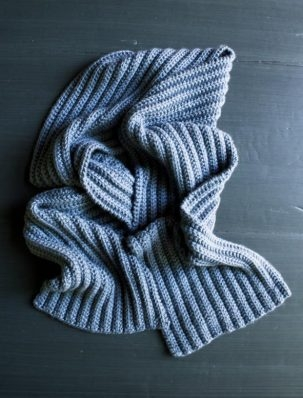 No-Purl Ribbed Scarf | Purl Soho