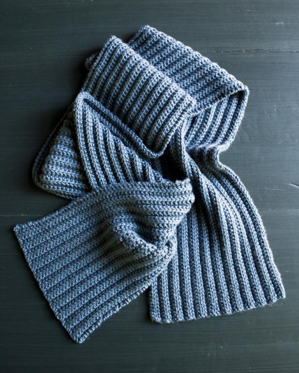 Knit And Purl Scarf Patterns : No-Purl Ribbed Scarf Purl Soho