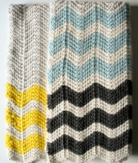Chevron Baby Blanket in Super Soft Merino