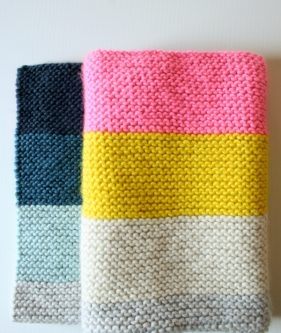 Super Easy Crib Blanket in Super Soft Merino