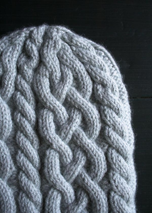 Traveling Cable Hat Purl Soho