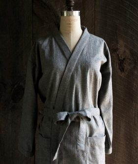 Purl Soho Women's Robe in Cozy Flannel