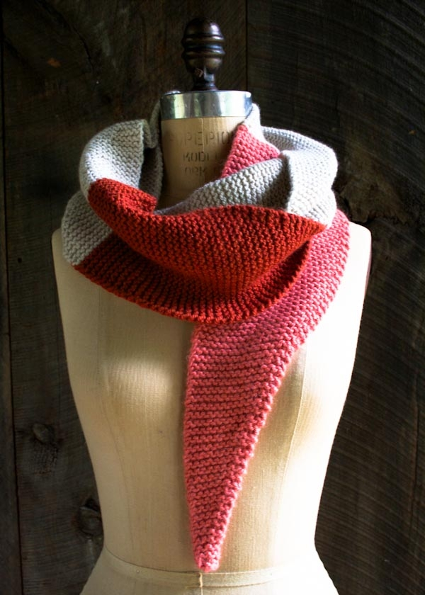 Color Tipped Scarf in New Colors + New Yarns
