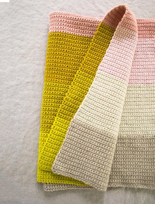Crocheted Super Easy Baby Blanket | Purl Soho