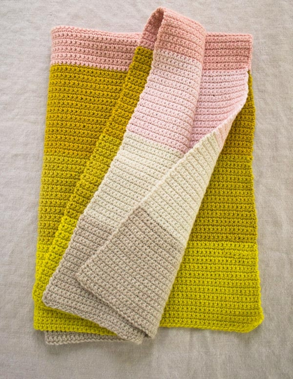 Crocheted Super Easy Baby Blanket Purl Soho