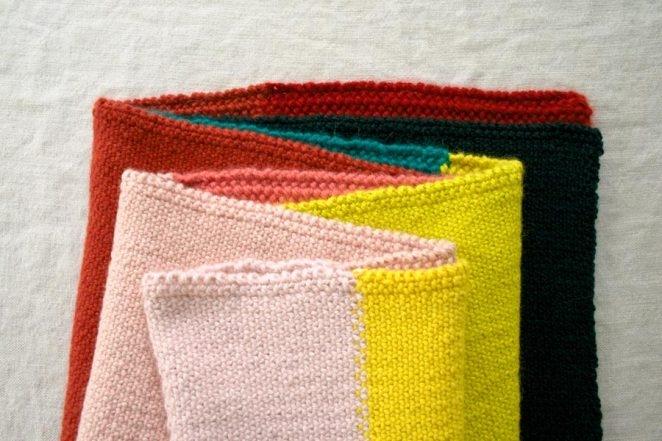 Linen Stitch Colorblock Wrap   Purl Soho