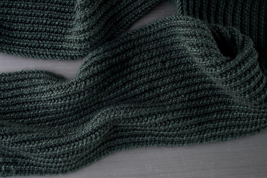 Knitting Pattern Mistake Rib Scarf : Mistake Rib Scarf in Mulberry Merino Purl Soho