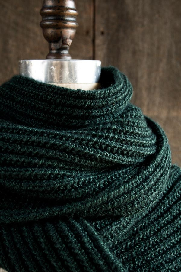 Mistake Rib Scarf in Mulberry Merino | Purl Soho