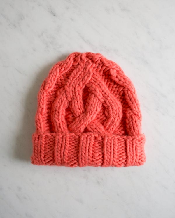 74e5ecd6059 Traveling Cable Hat in Super Soft Merino