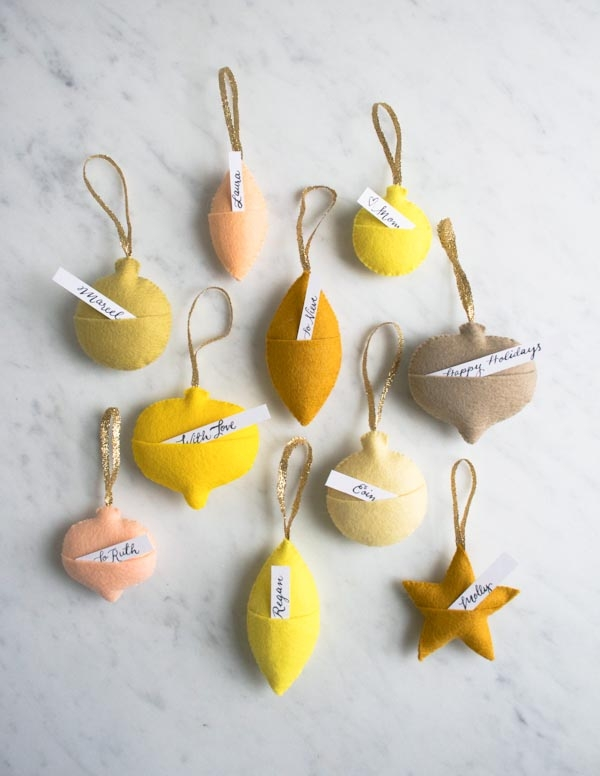 Felt Ornament Gift Tags | Purl Soho