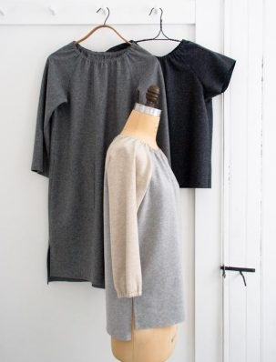 Sewn Raglan Shirt, Tunic + Dress in Lana Cotta Canberra | Purl Soho