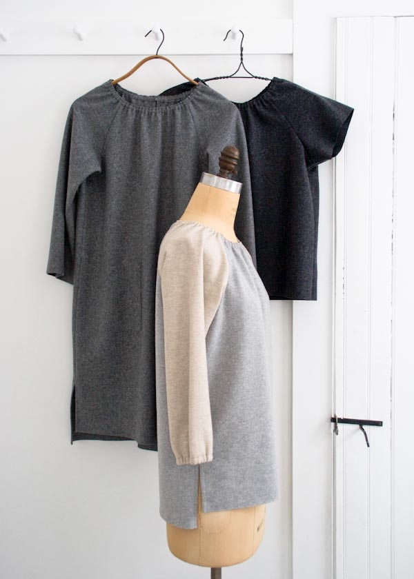 Sewn Raglan Shirt, Tunic + Dress in Lana Cotta Canberra
