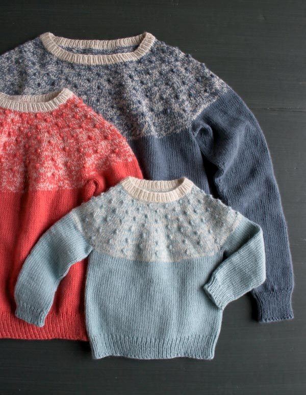 Bobble Yoke Sweater: Now Sized for Kids and Women Too! | Purl Soho