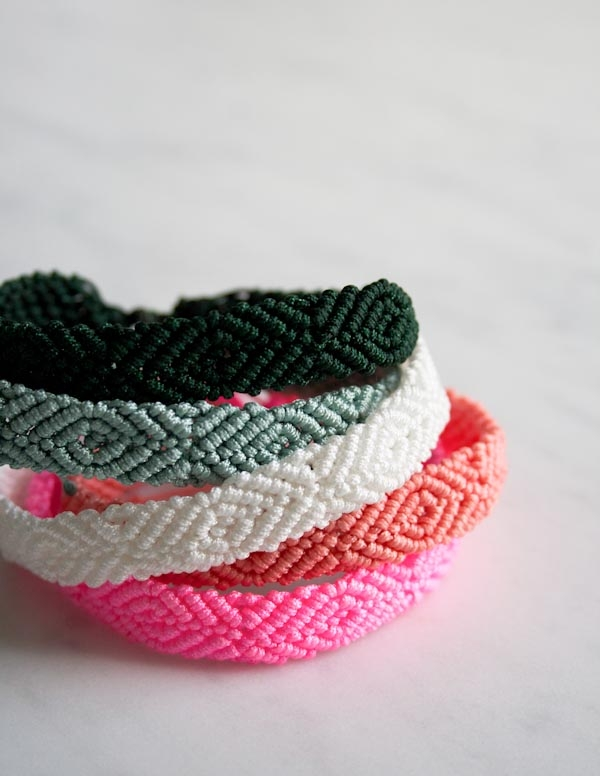 Monochrome Friendship Bracelets
