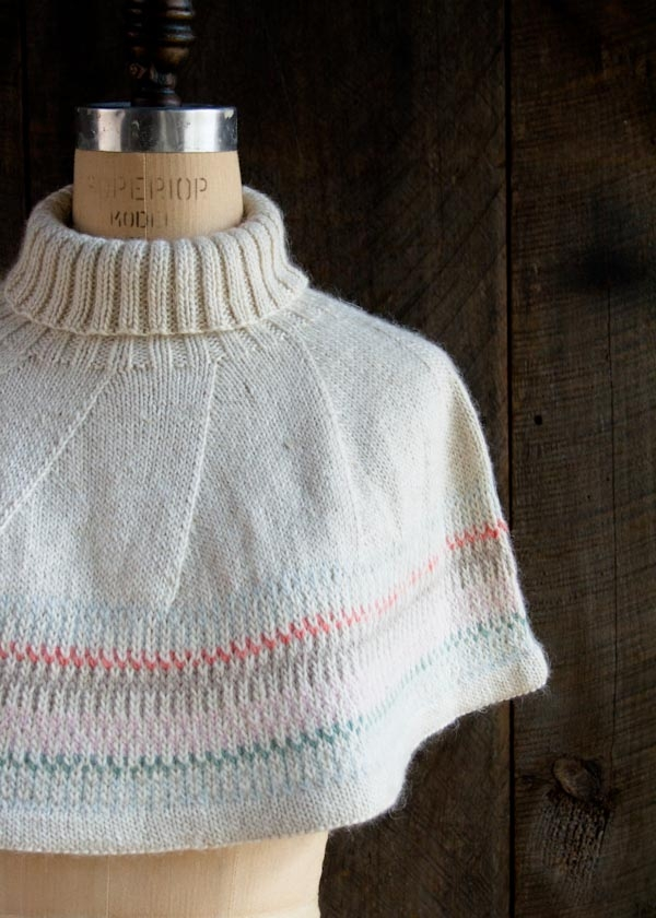 Knitting Pattern For Baby Capelet : Northern Lights Capelet Purl Soho
