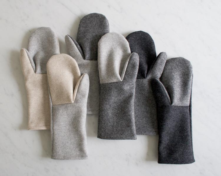 Simple Felted Wool Mittens in Lana Cotta Canberra | Purl Soho