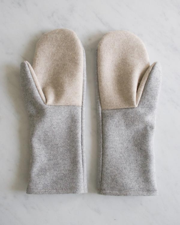Simple Felted Wool Mittens in Lana Cotta Canberra