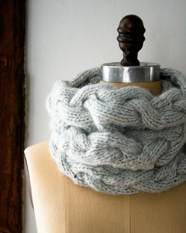 Braided Cable Cowl Purl Soho