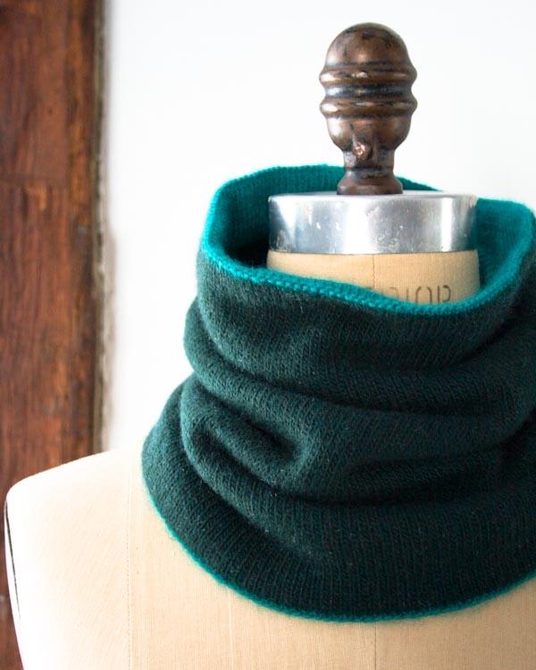 Alpaca Cowl Knitting Pattern : Reversible Cowl Purl Soho
