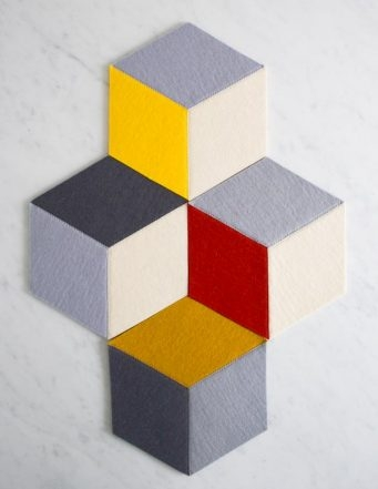 Tumbling Blocks Coasters + Trivets | Purl Soho