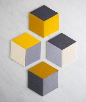 Tumbling Blocks Coasters + Trivets