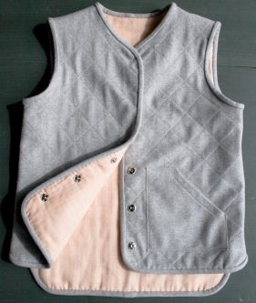 Quilted Wool Vest