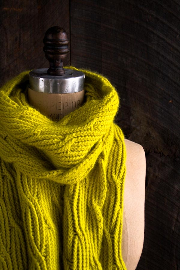 Reversible Rivulet Scarf Purl Soho