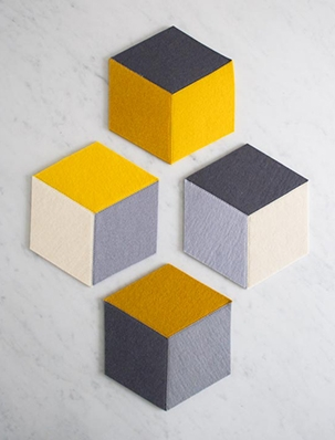 Tumbling Blocks Coasters + Trivets | Purl Soho
