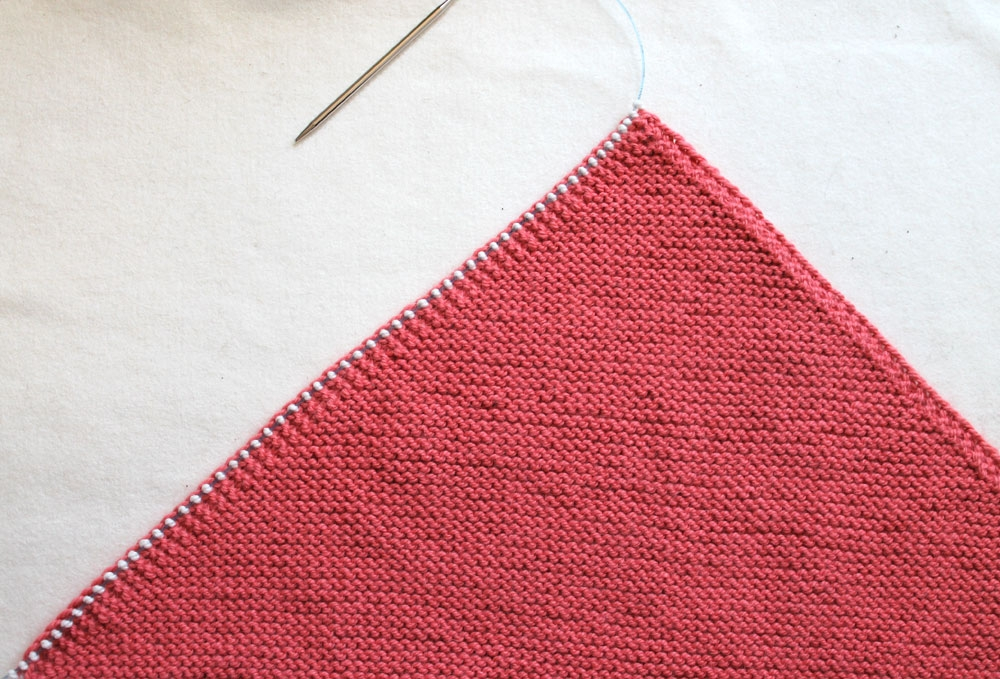 Left Handed Knitting Picking Up Stitches : Flying Geese Knit Baby Blanket Purl Soho