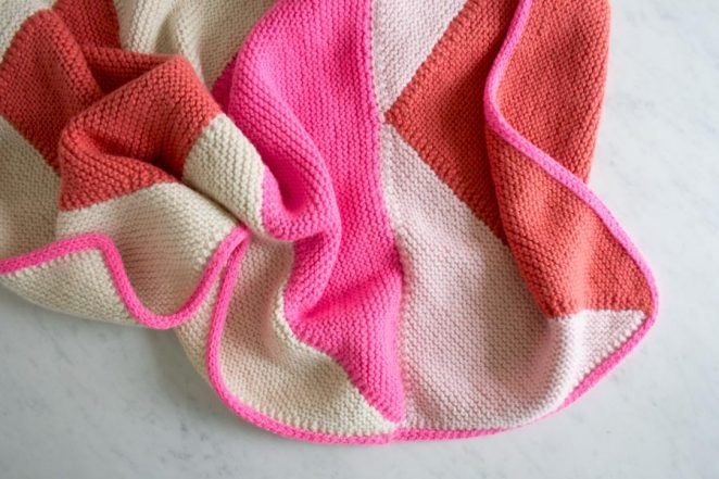 Flying Geese Knit Baby Blanket | Purl Soho