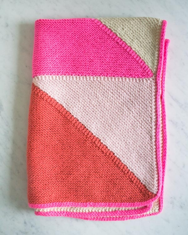Knit And Purl Stitch Baby Blanket : Flying Geese Knit Baby Blanket Purl Soho - Create