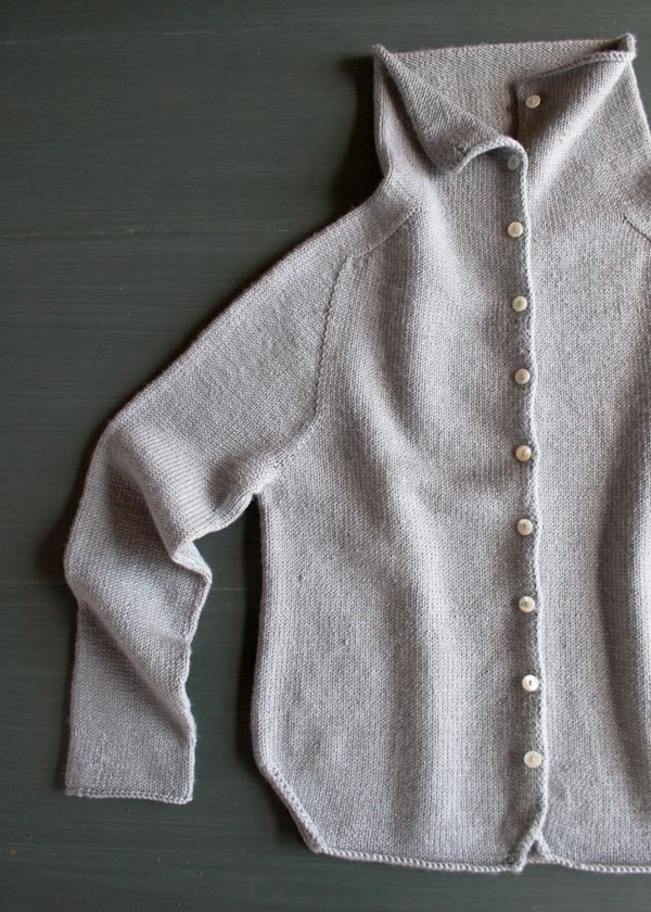 Top-Down Turtleneck Cardigan | Purl Soho