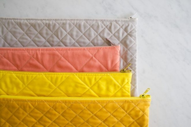 Quilted Zipper Pouches | Purl Soho