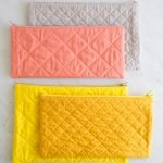 Quilted Zipper Pouches