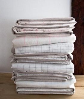 Lap Duvets in Linen Grid and Lana Cotta Canberra