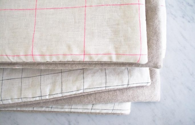 Lap Duvets in Linen Grid and Lana Cotta Canberra | Purl Soho
