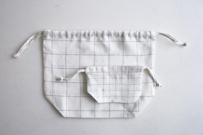 Drawstring Bags in Linen Grid | Purl Soho