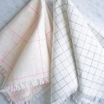 Fringed Napkins in Linen Grid